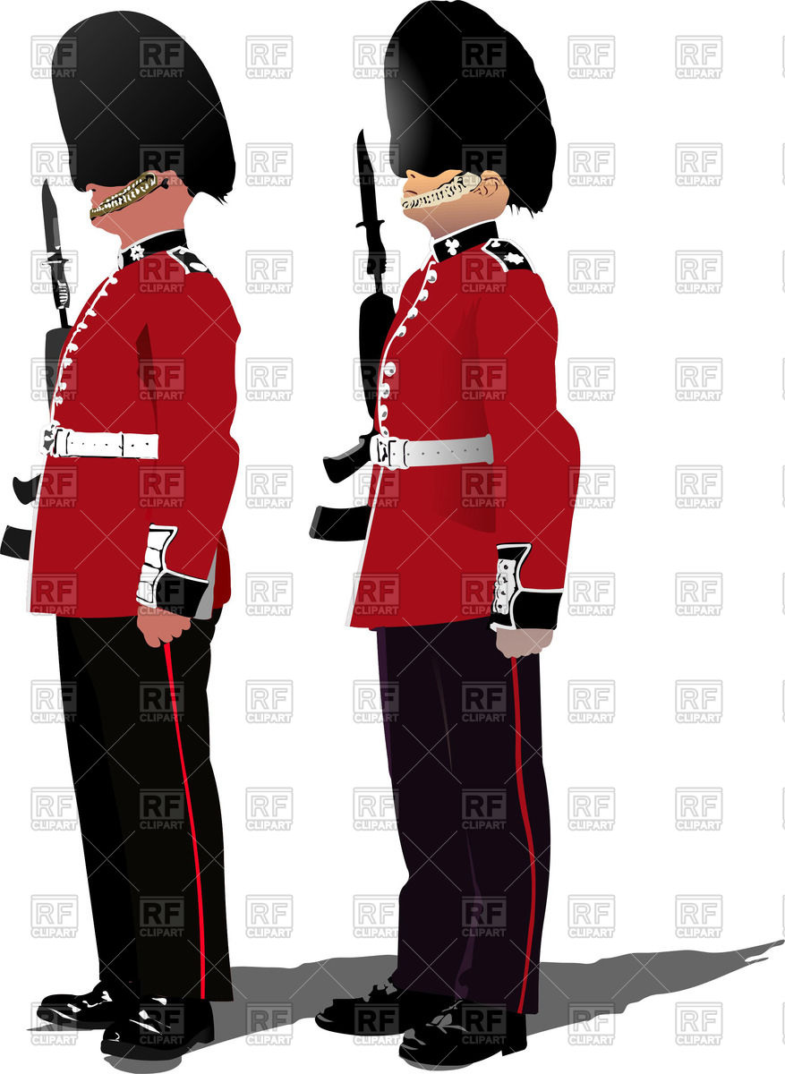 Colorful silhouettes of beefeaters.