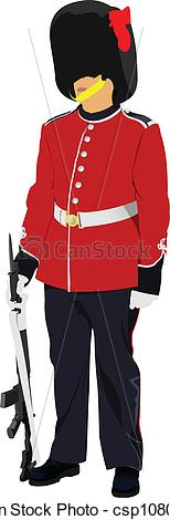Vector Clipart of Vector image of beefeater isolated.