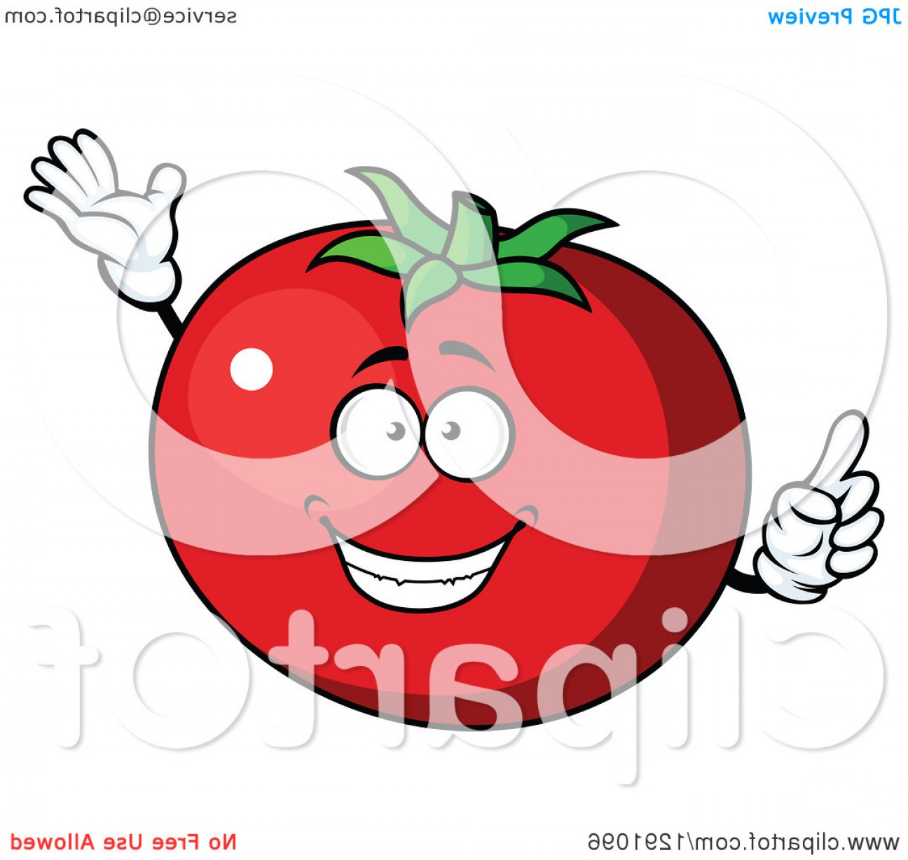 Excellent Cartoon Beefsteak Tomato Character Talking Image.
