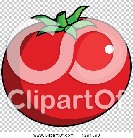Clipart of a Cartoon Beefsteak Tomato.