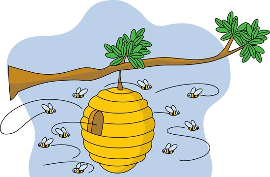 Beehive clipart 7.