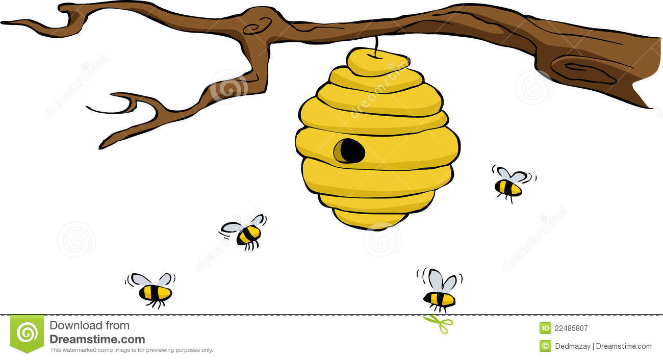Cute Beehive Clipart.