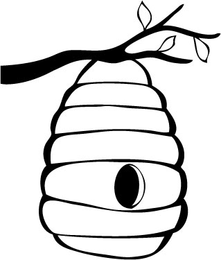 Clip art beehive clipart.