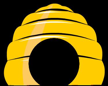 Beehive Honey Bee Clipart.