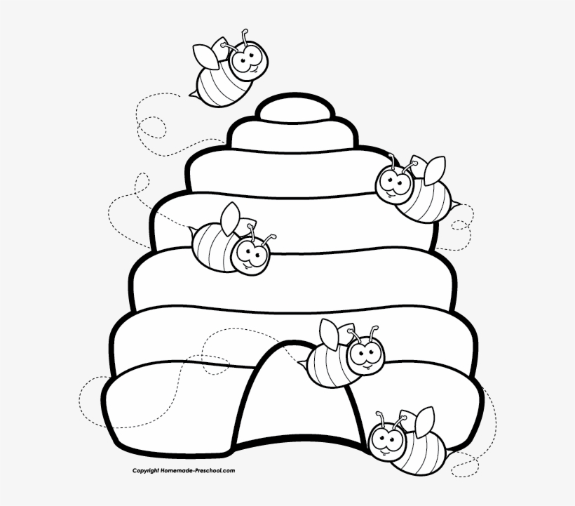 Beehive Free Bee Clipart.