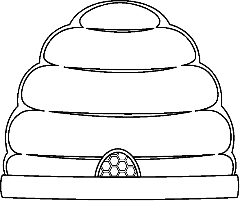 Free Beehive Black And White, Download Free Clip Art, Free Clip Art.