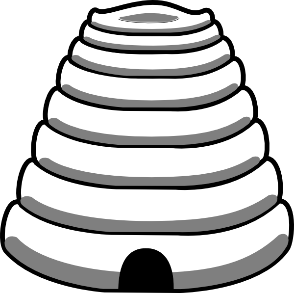 Beehive bee hive clip art at vector clip art.