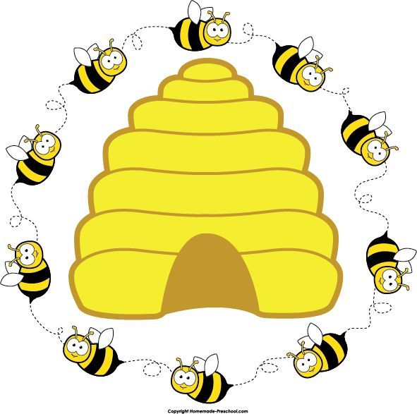 Preschool bee home free clipart bee clipart beehive bee circle 2.