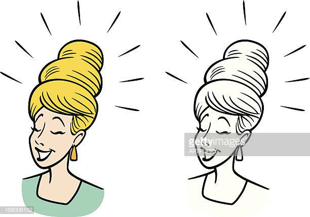 38 Beehive Hair Stock Illustrations, Clip art, Cartoons & Icons.