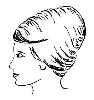Beehive hair clipart free images 3.