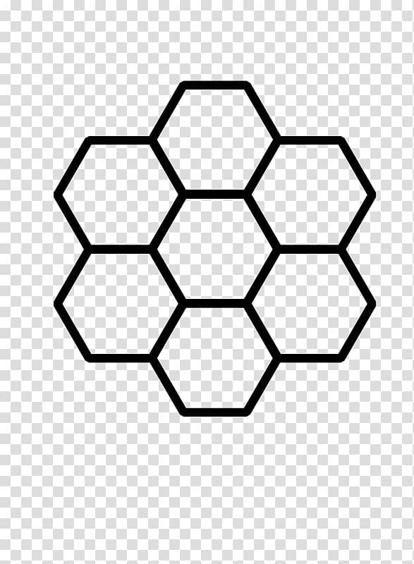 Black hexagon formation illustration, Western honey bee Honeycomb.