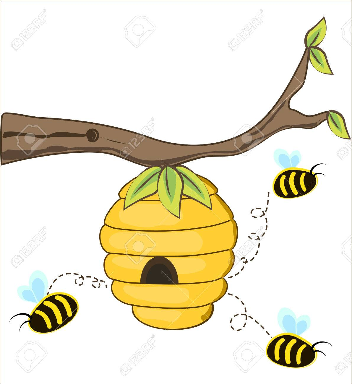 835 Beehive free clipart.