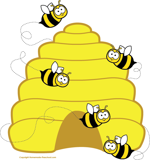 1505 Bees free clipart.