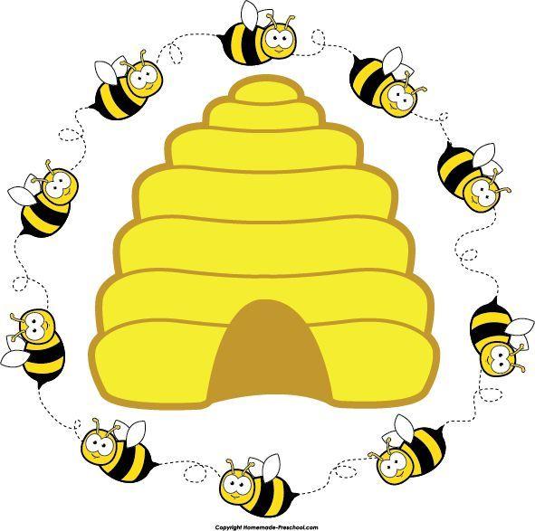 Preschool bee home free clipart bee clipart beehive bee.