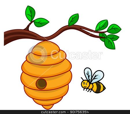 bee hive clip art.