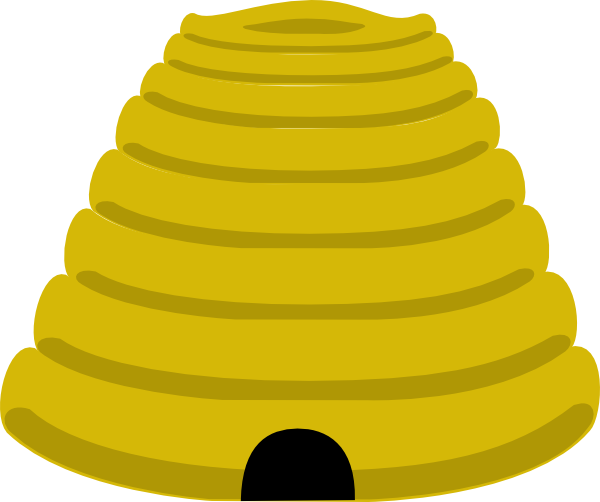 Cartoon bee hive clip art.