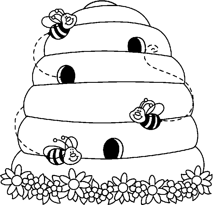 Bee hives clipart.