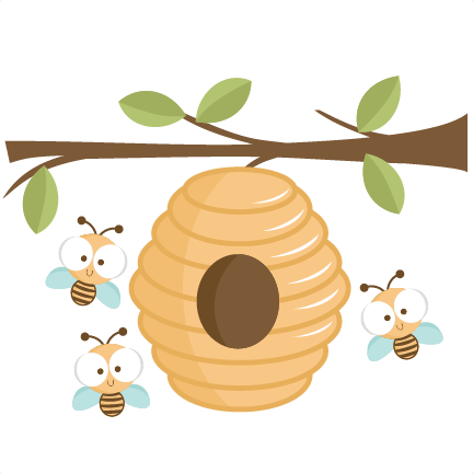 Clipart of bee hives.