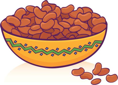 Bean Clip Art, Vector Image Illustrations.