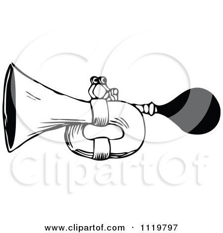White Horn Clipart