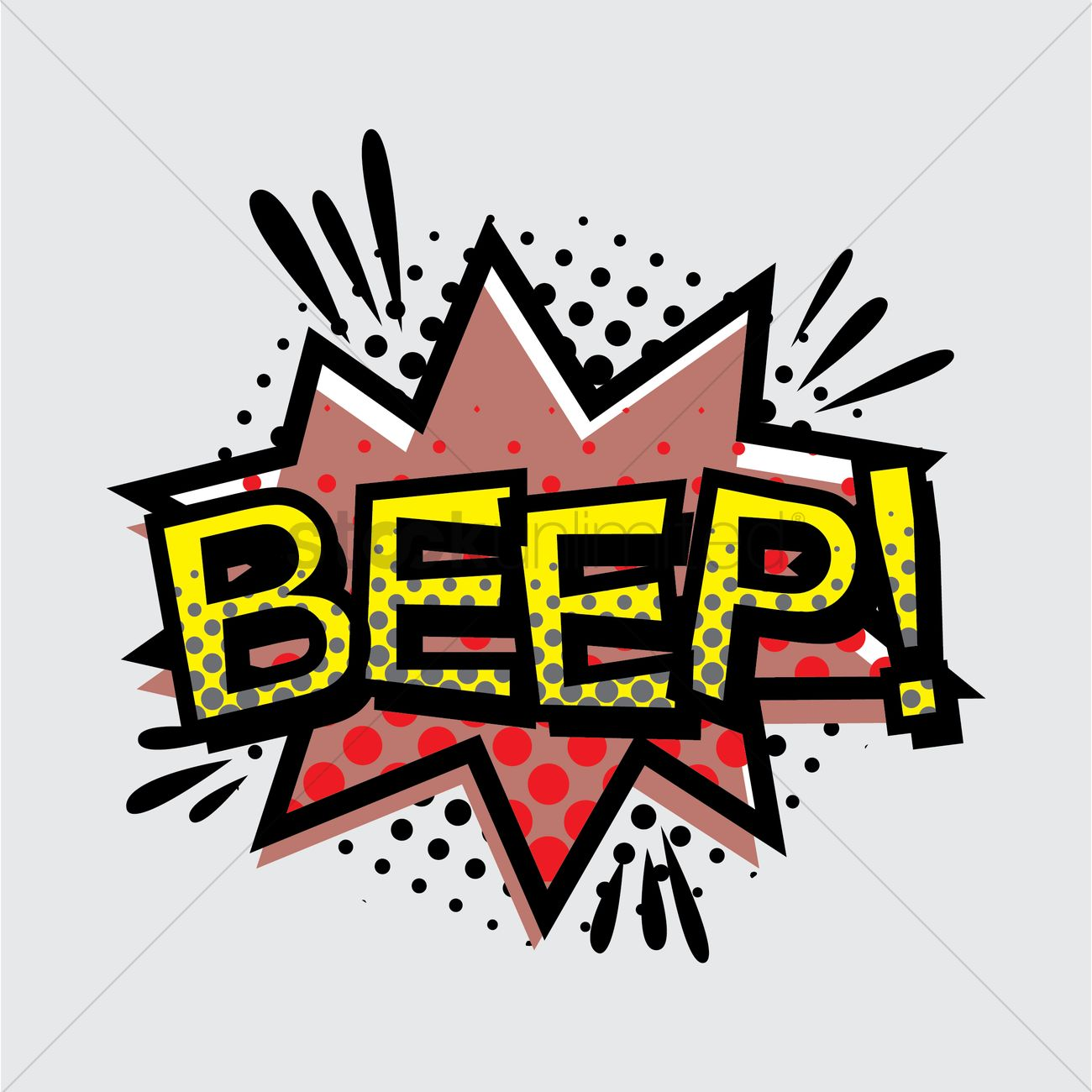 Beep text with comic effect Vector Image.