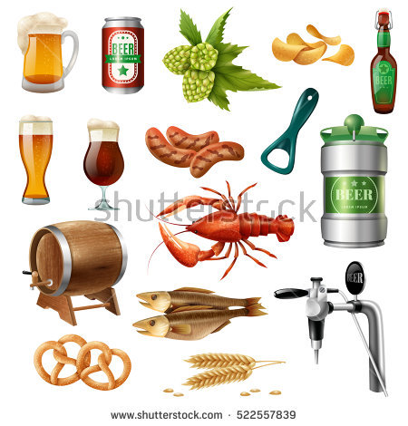Beer Snack Stock Vectors, Images & Vector Art.