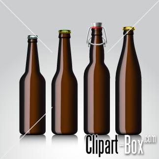 CLIPART BEER BOTTLES.