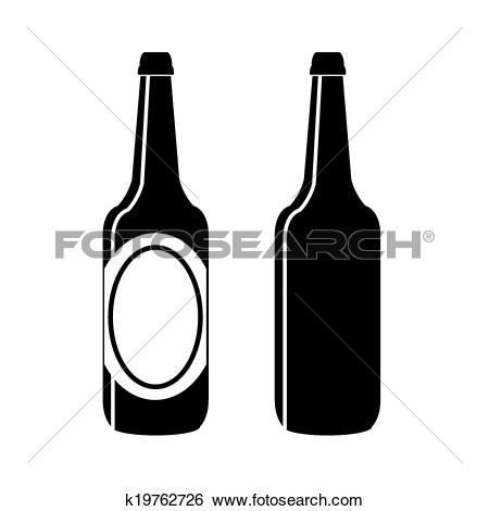 Clip Art of bottle of beer vector k19762726.