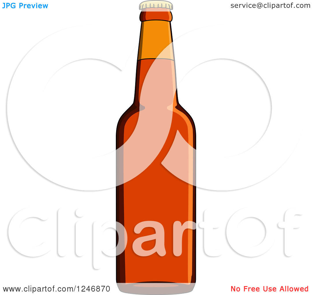 Clipart of a Beer Bottle.
