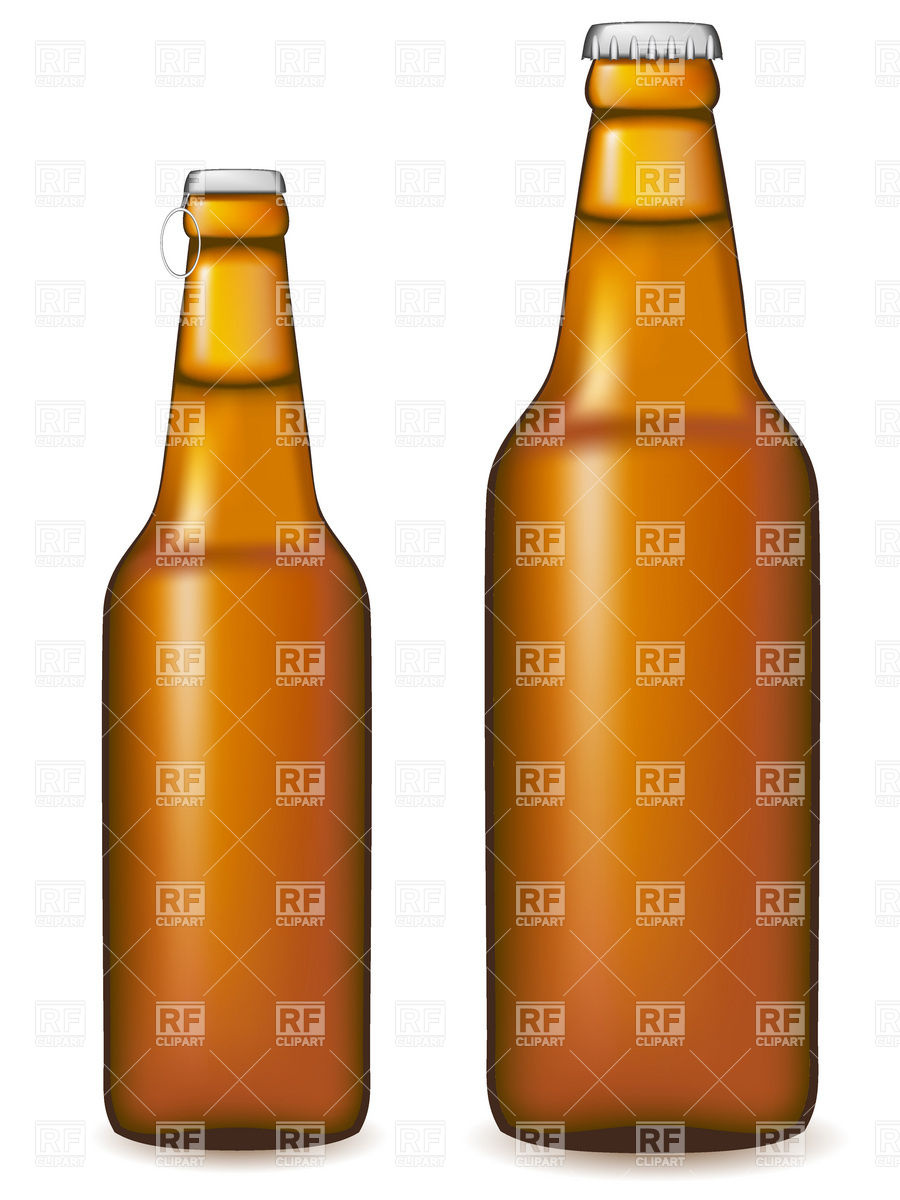 Brown beer bottles.