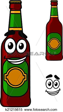 Clipart of Happy beer pint cartoon k21215615.