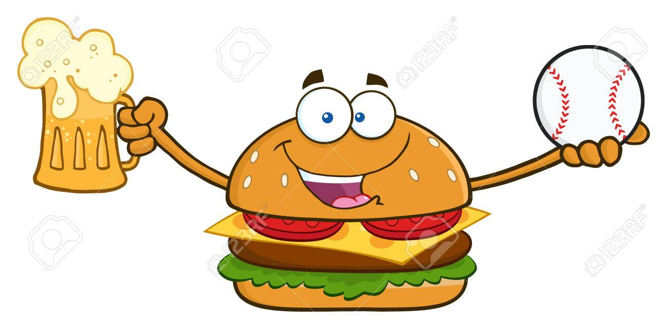 Burger And Beer Clipart.