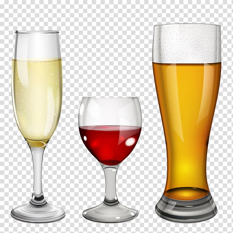 Beer Wine Champagne Alcoholic drink, Colored wine collection.