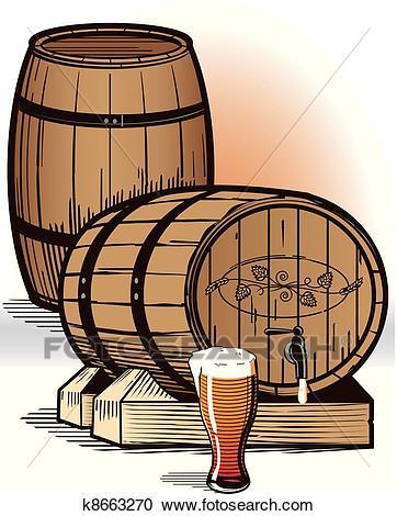Beer Barrels Clipart.