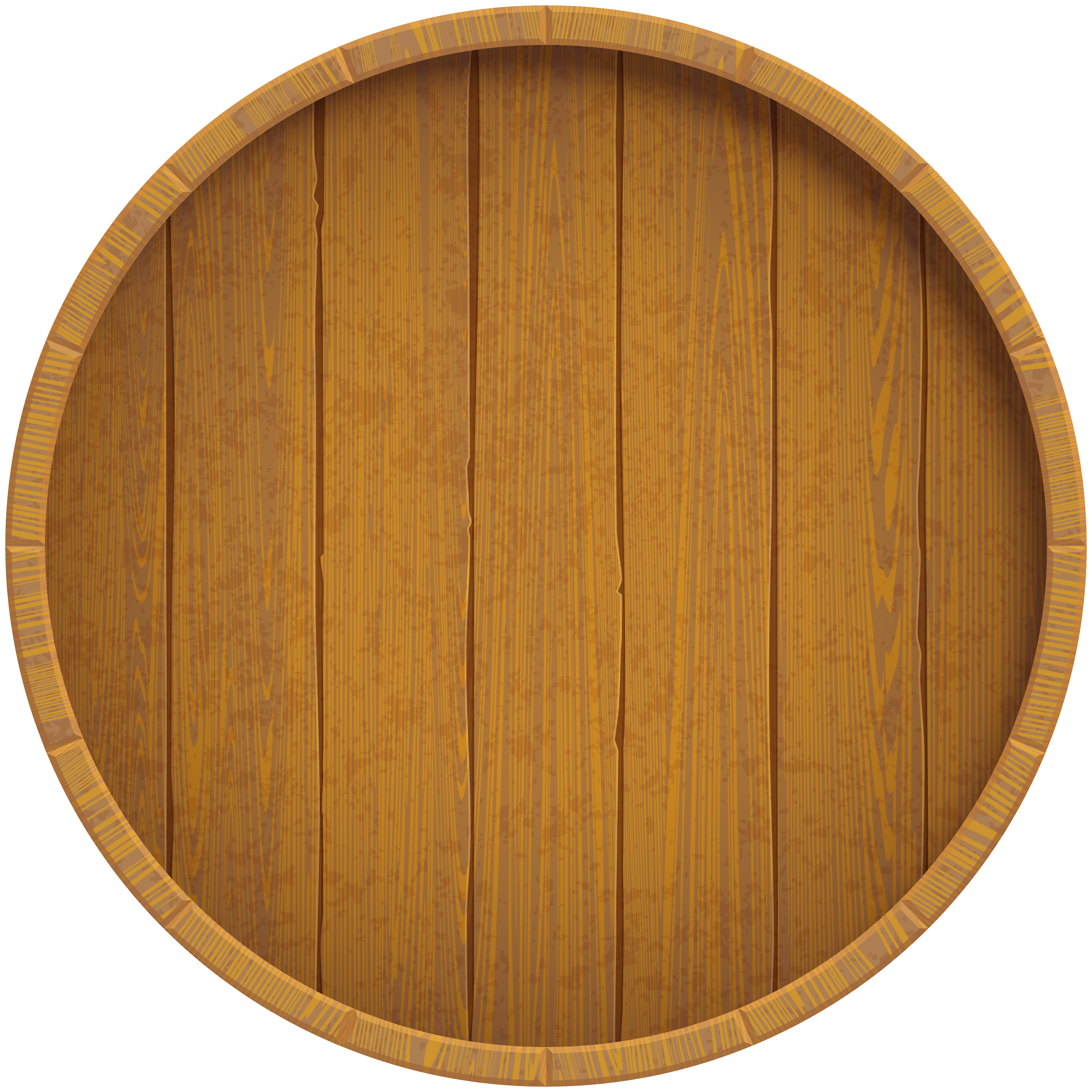 Wooden Beer Barrel Clip Art Image.