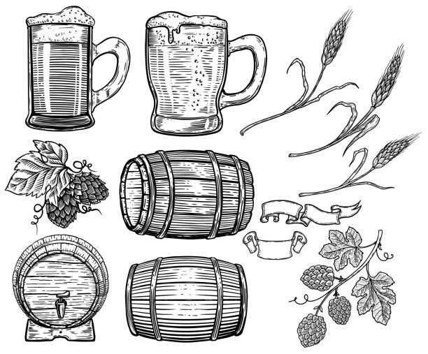 Best Beer Barrel Illustrations, Royalty.