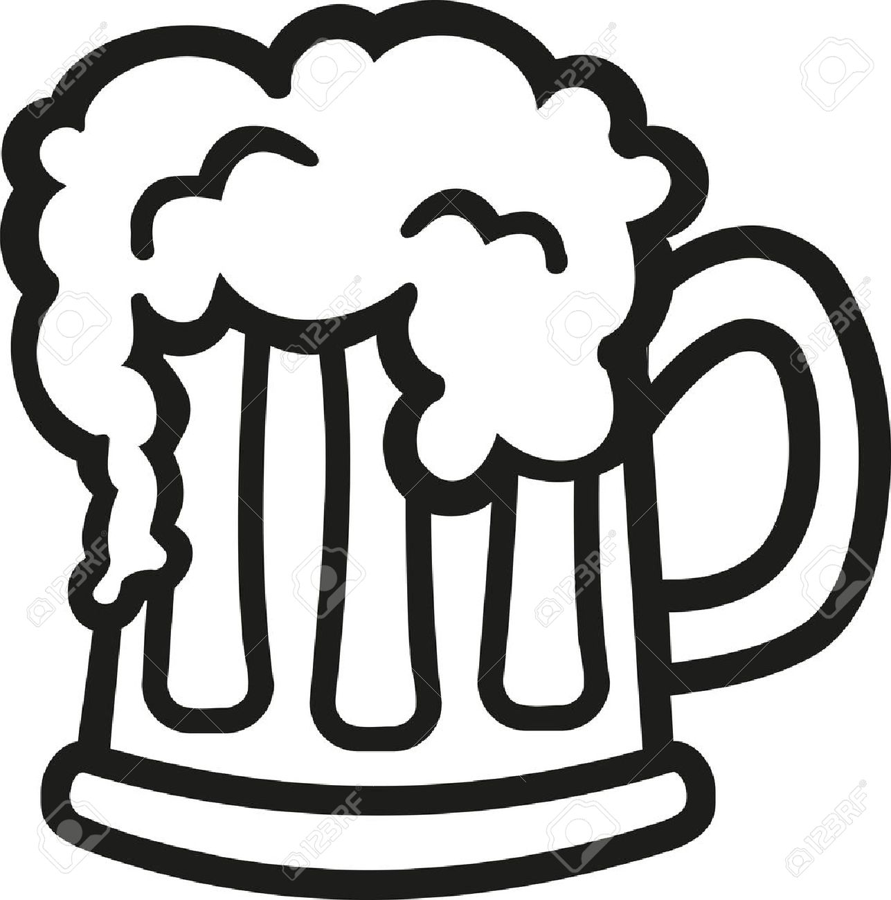 Beer clipart black and white 6 » Clipart Station.