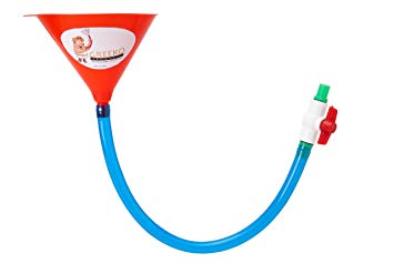 Single Tube Beer Bong Funnel with Valve.