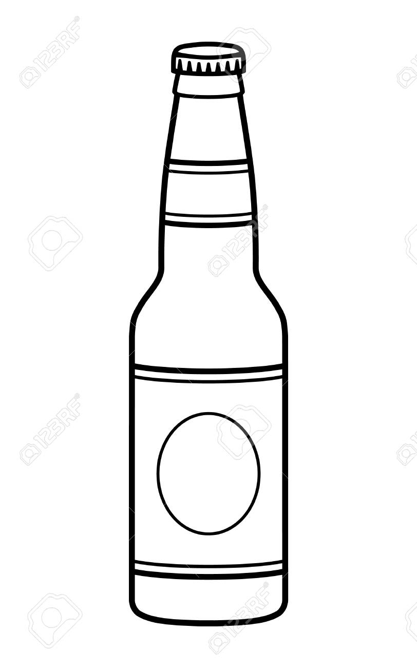 444 Beer Bottle free clipart.