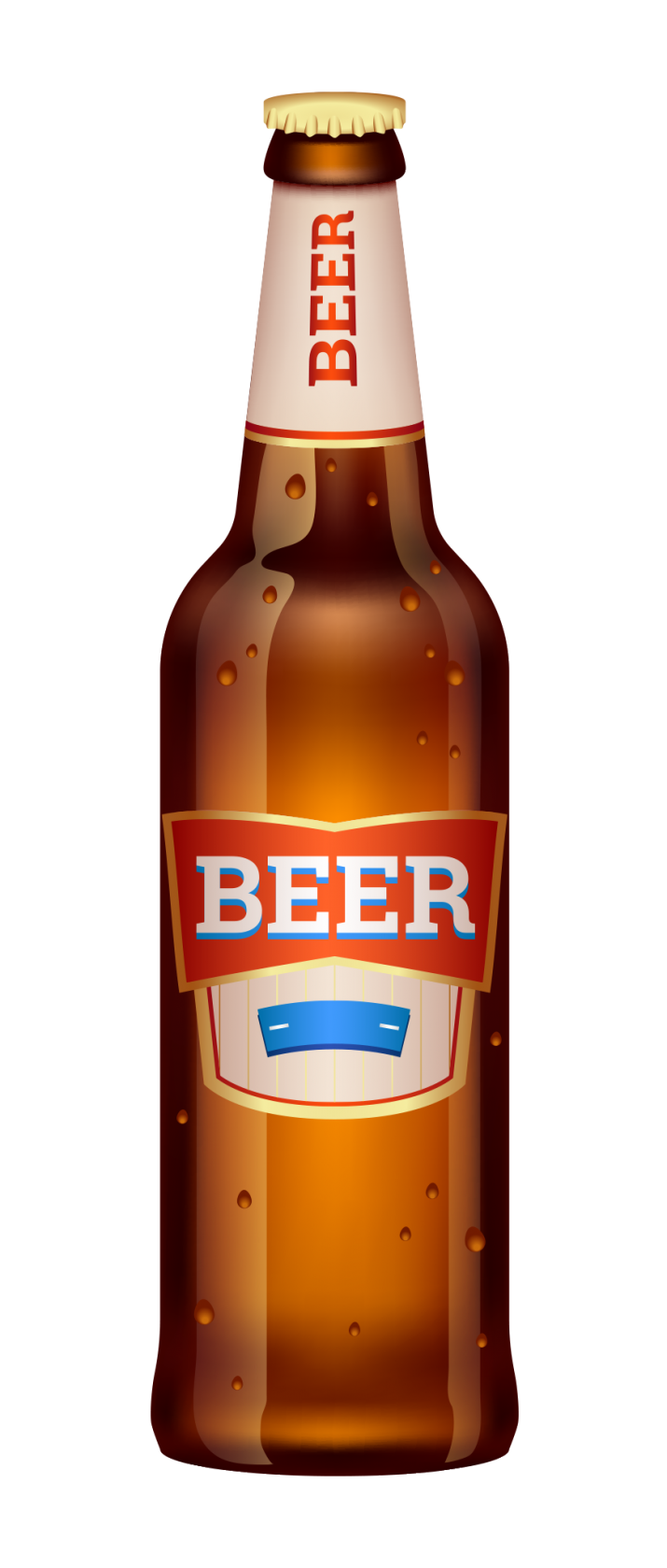 Beer Bottle Transparent PNG.