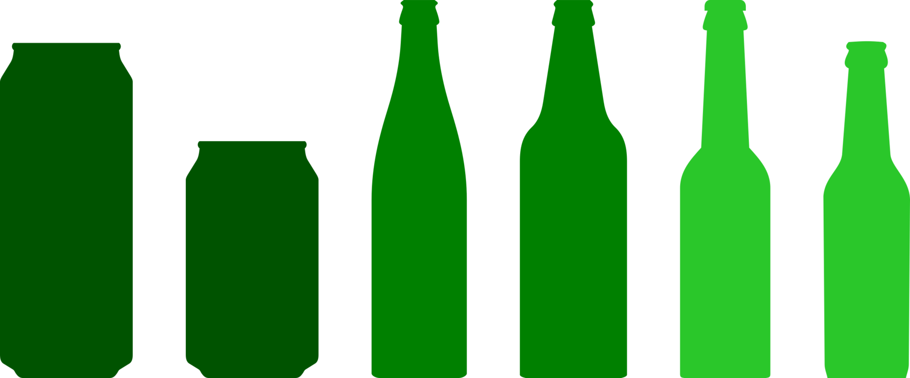 Beer Bottle,Glass Bottle,Green Vector Clipart.