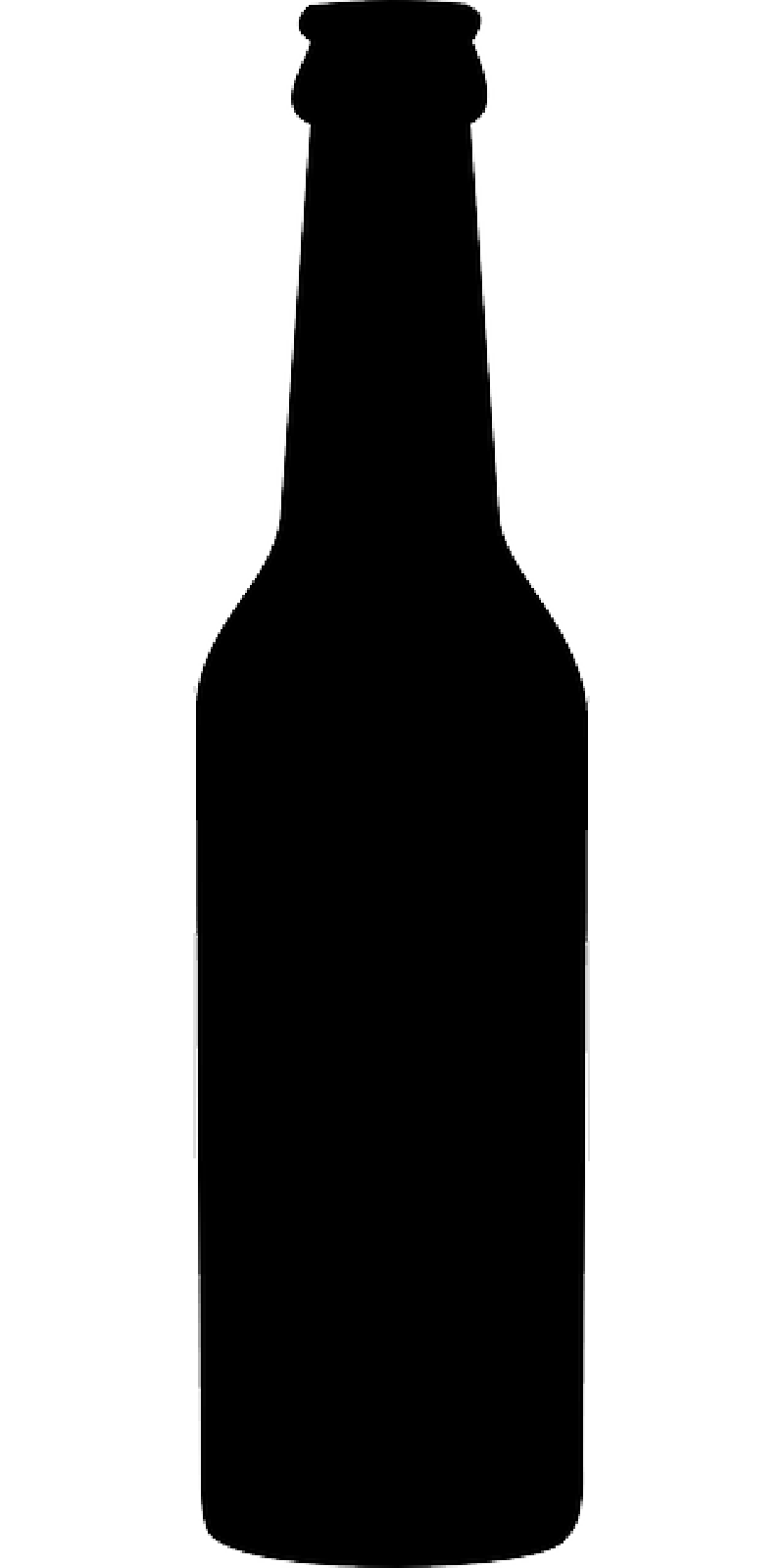 Silhouette Beer Bottle Clipart.