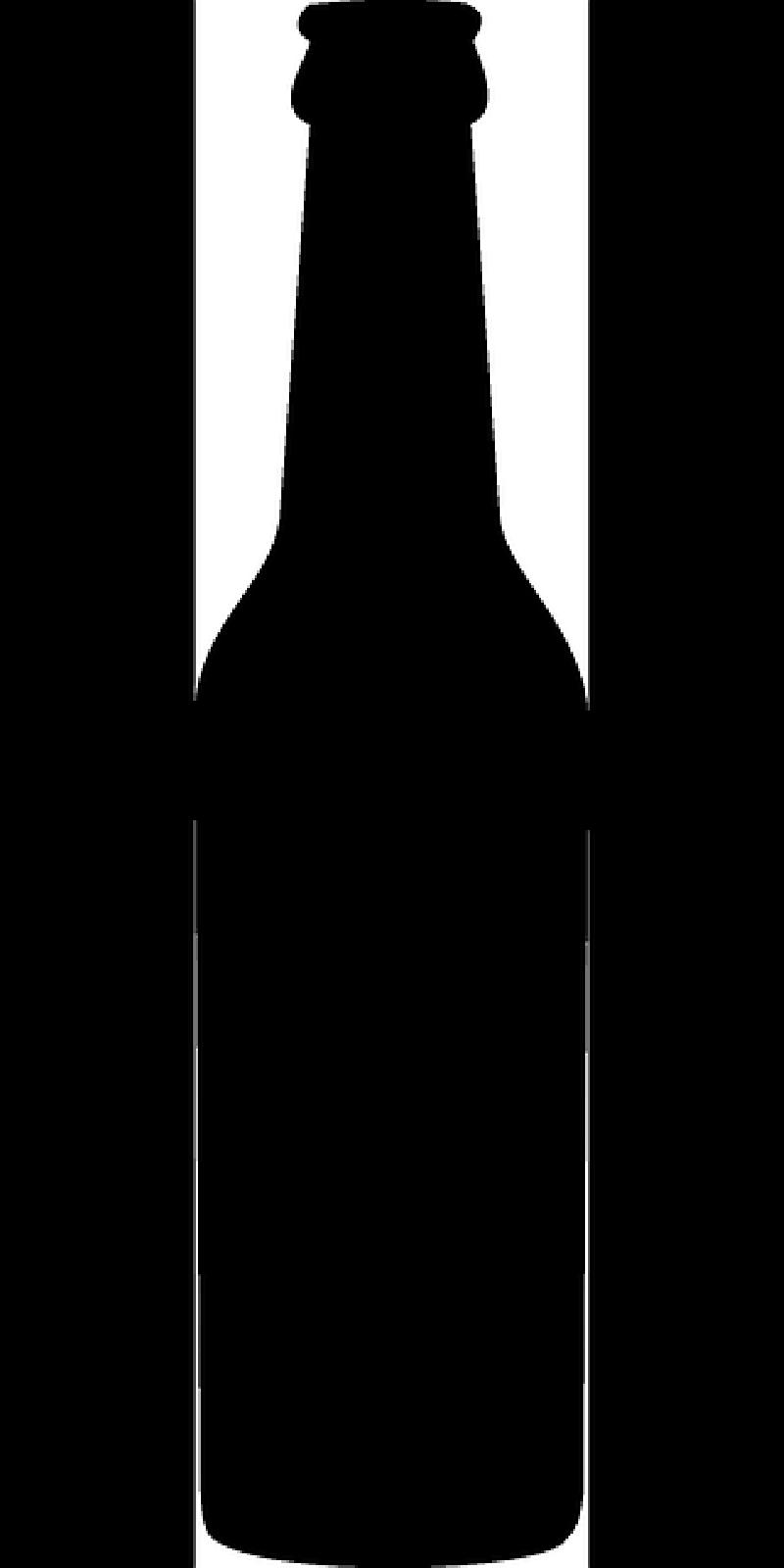 Silhouette Beer Bottle Clipart.