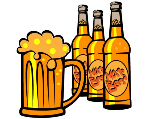 Beer bottle clipart vector.