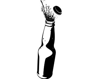 Beer Bottle Clipart Black And White (83+ images in Collection) Page 2.