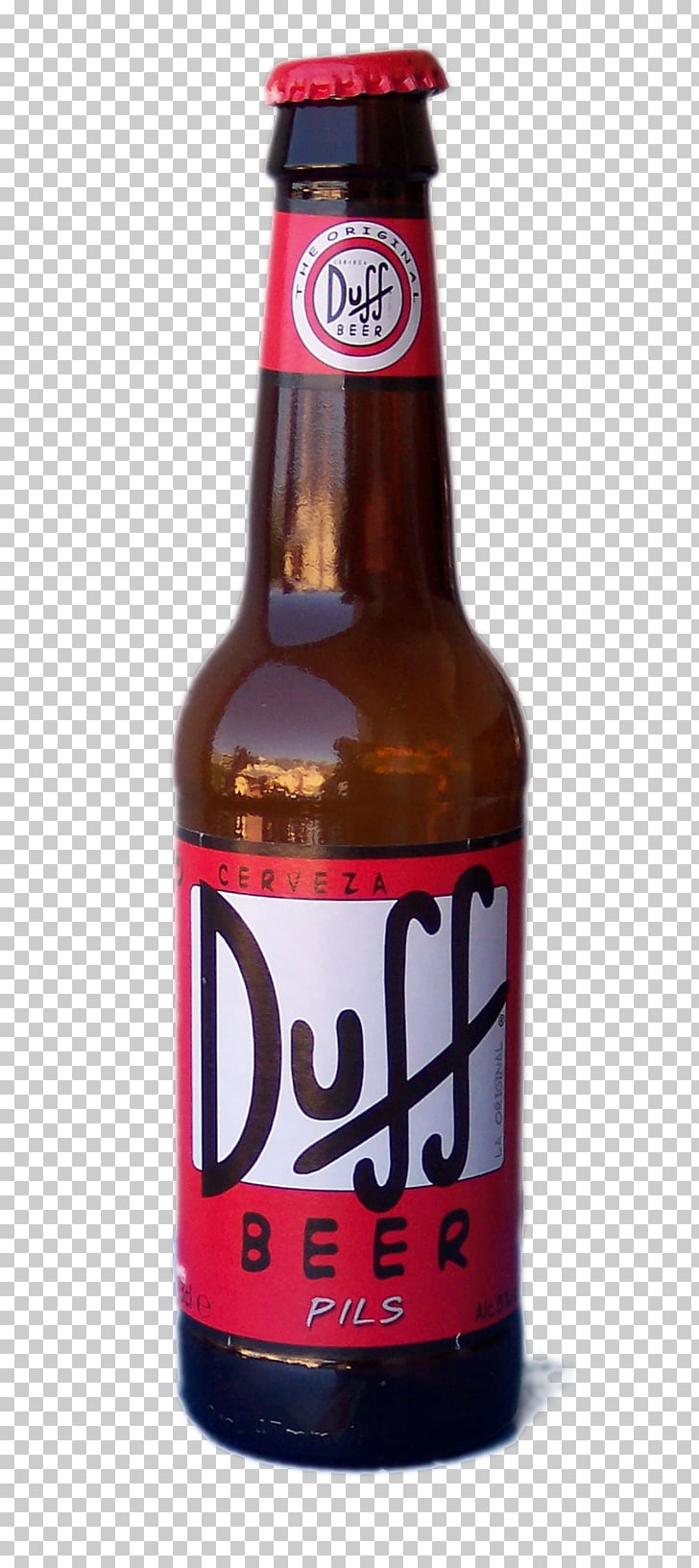 Duff Beer Budweiser Beer bottle, Bottle , free of bottle.