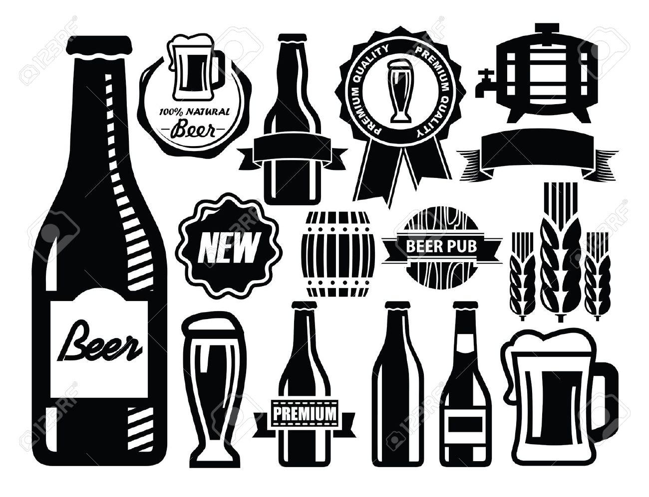 24,088 Beer Bottle Cliparts, Stock Vector And Royalty Free Beer.
