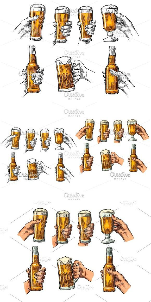 Man and woman hands holding, clinking with beer glass.