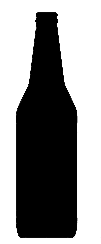 Beer Bottle Silhouette.
