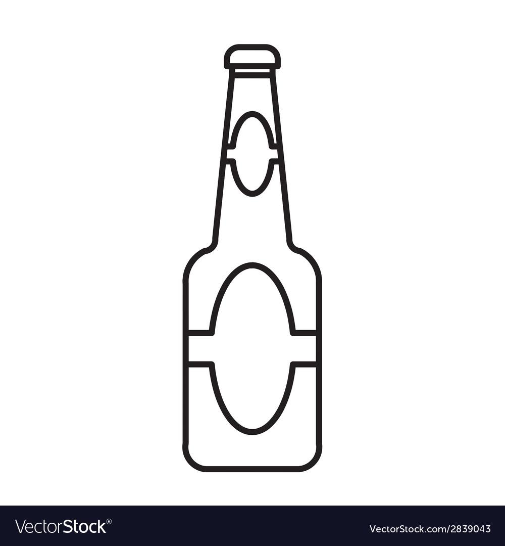 Beer bottle outline.